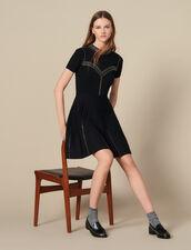Short Knit Dress Trimmed With Studs : FBlackFriday-FR-FSelection-30 color Black