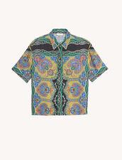 Short-sleeved printed shirt : Tops & Shirts color Black
