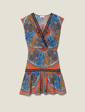Short Printed Dress With Ruffles : Dresses color Multi-Color