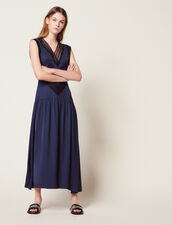 Long Floaty Dress : null color Navy Blue