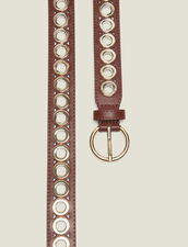 Belt With Eyelets : null color Camel