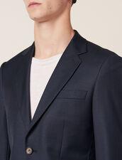 Wool Suit Jacket : Suits & Tuxedos color Pétrol Blue