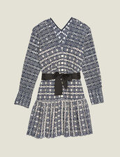 Short Broderie Anglaise Dress : null color Navy Blue