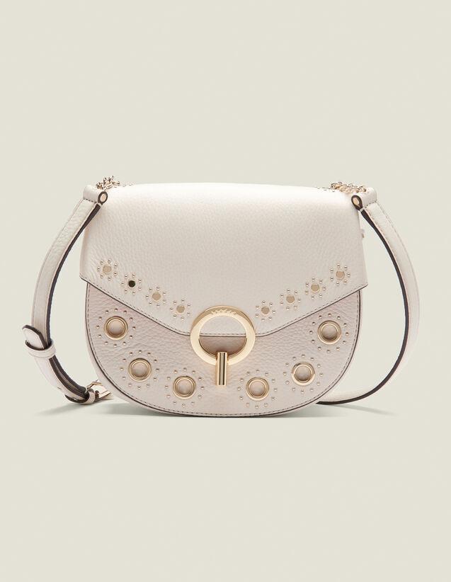 Pépita Bag, Medium Model With Studs : All Bags color Ecru