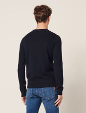 Bioche-Stitch Sweater : Sweaters & Cardigans color Navy Blue
