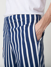 Trousers With Contrasting Stripes : Pants & Shorts color Navy Blue