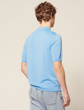 Fine Knit Polo Shirt With Short Sleeves : T-shirts & Polo shirts color Ecru