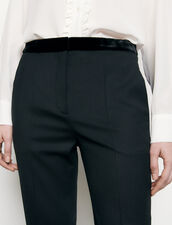 Straight-cut suit trousers : Pants color Black