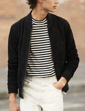 Suede zipped jacket : Blazers & Jackets color Black