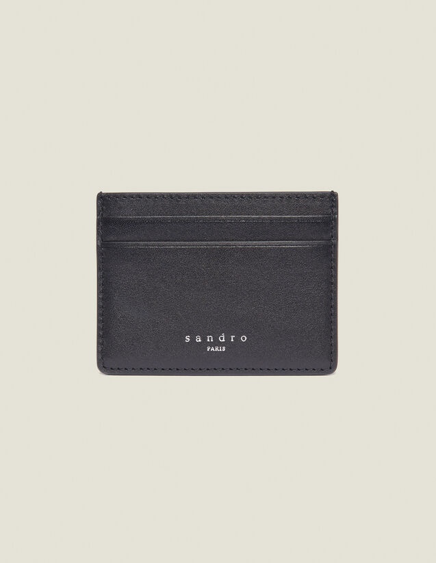 Smooth Leather Card Holder : Card Holders color Black