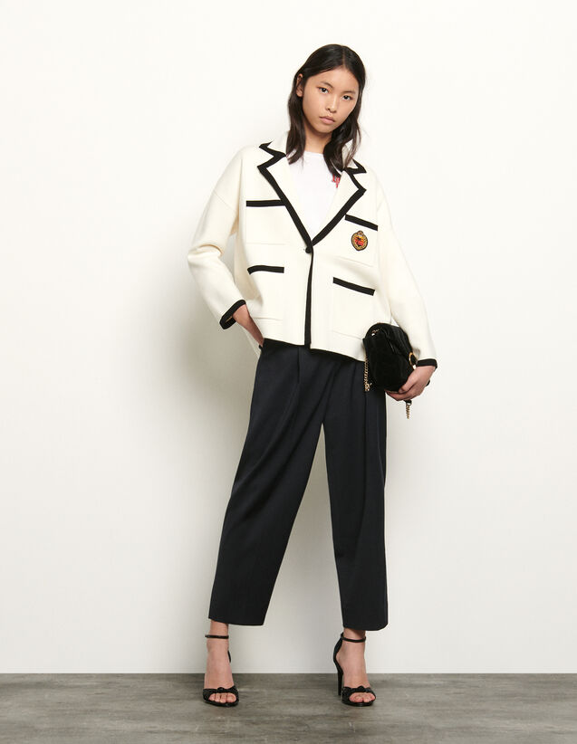 Tailored jacket style cardigan : Summer Collection color Ecru