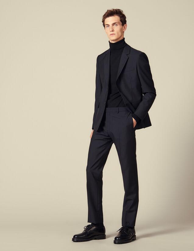Classic suit trousers : Suits & Tuxedos color Navy Blue