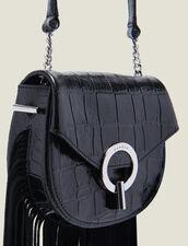Fringed Pépita Bag, Small Model : Best of the season color Black