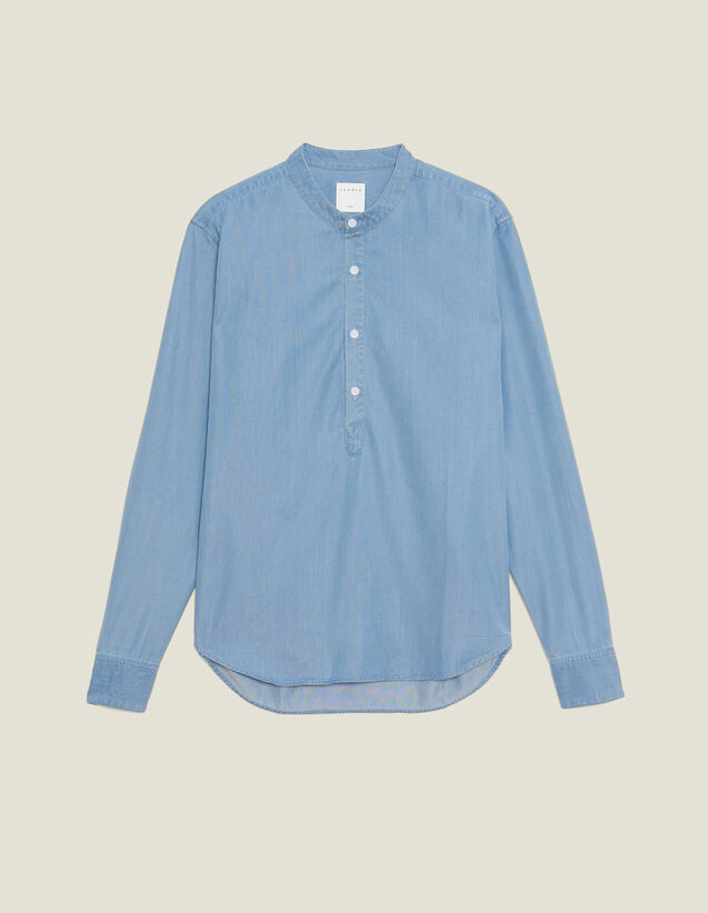 Faded Chambray Tunic : Sélection Last Chance color Blue Vintage - Denim