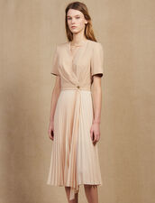 2-In-1 Wrap Dress : null color Nude