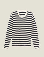 Breton Sweater In Cotton And Cashmere : Sweaters & Cardigans color Ecru