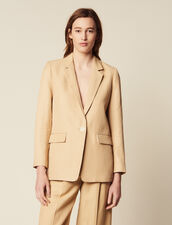 Tailored Jacket With Button Fastening : LastChance-FR-FSelection color Beige