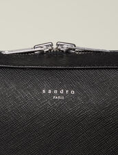 Saffiano Leather Briefcase : All Leather Goods color Black