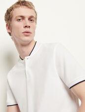 Polo shirt with contrasting collar : T-shirts & Polo shirts color Black