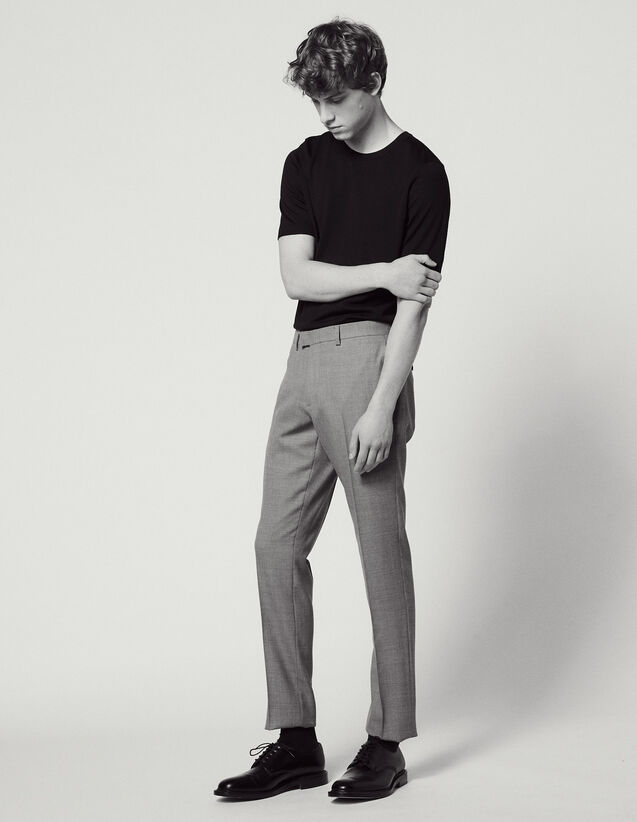 Wool Suit Trousers : LastChance-FR-H40 color Light Grey