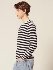 Breton Sweater In Cotton And Cashmere : Sélection Last Chance color Ecru