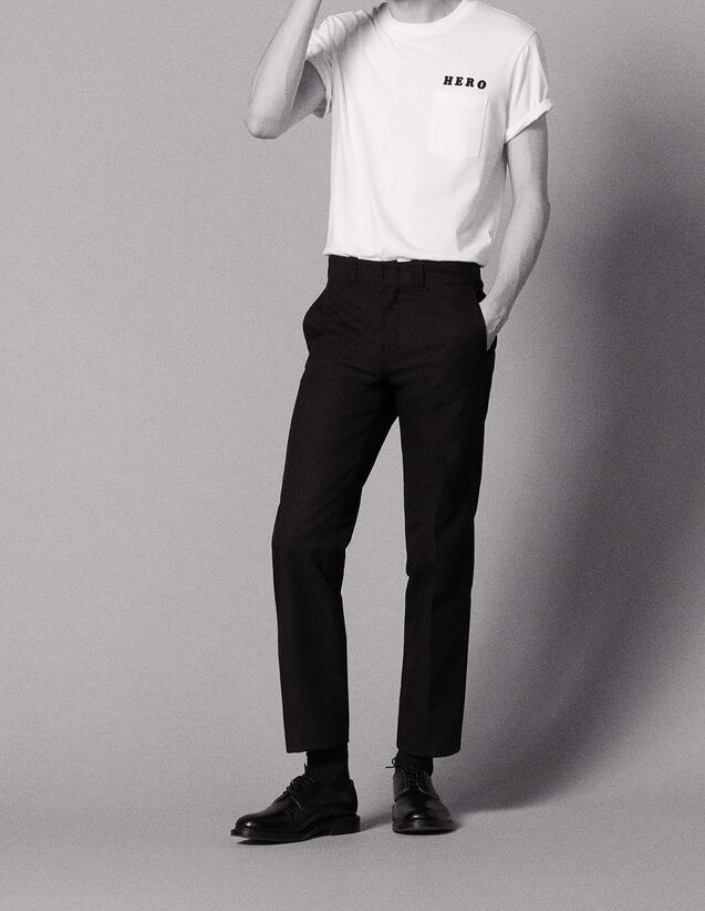 Straight-cut city-fit trousers : All Selection color Black