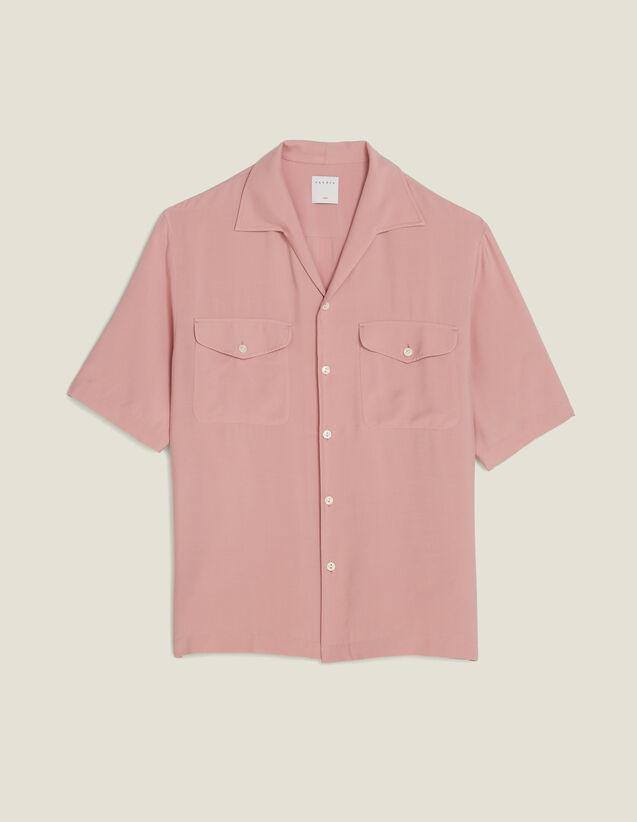 Flowing Short-Sleeved Shirt : Shirts color Light pink