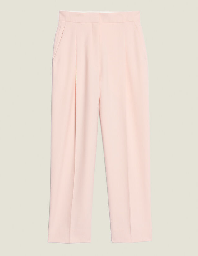 Matching 7/8-Length Tailored Trousers : Pants color Pink