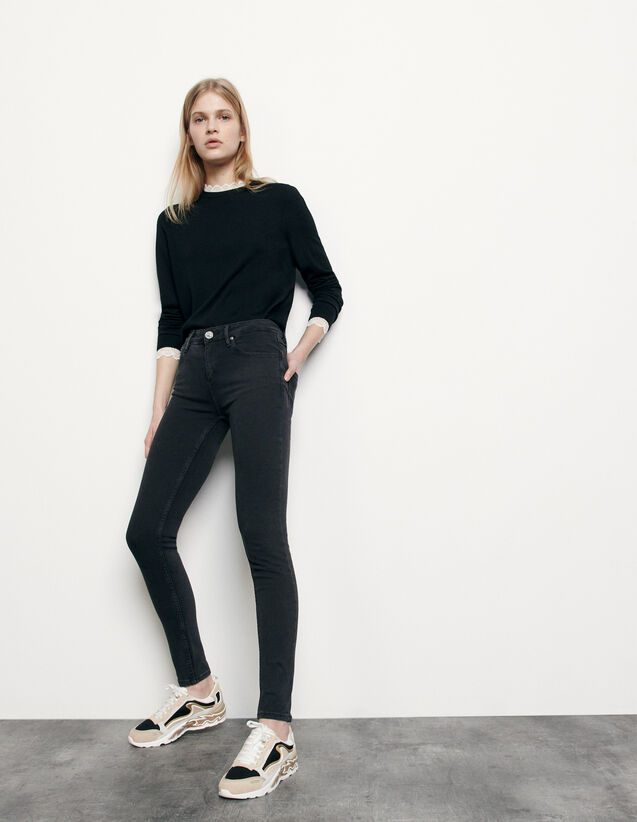 Slim jeans with regular waist : Jeans color Black