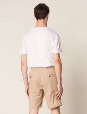 Drawstring Waist Bermuda Shorts : Pants & Shorts color Beige