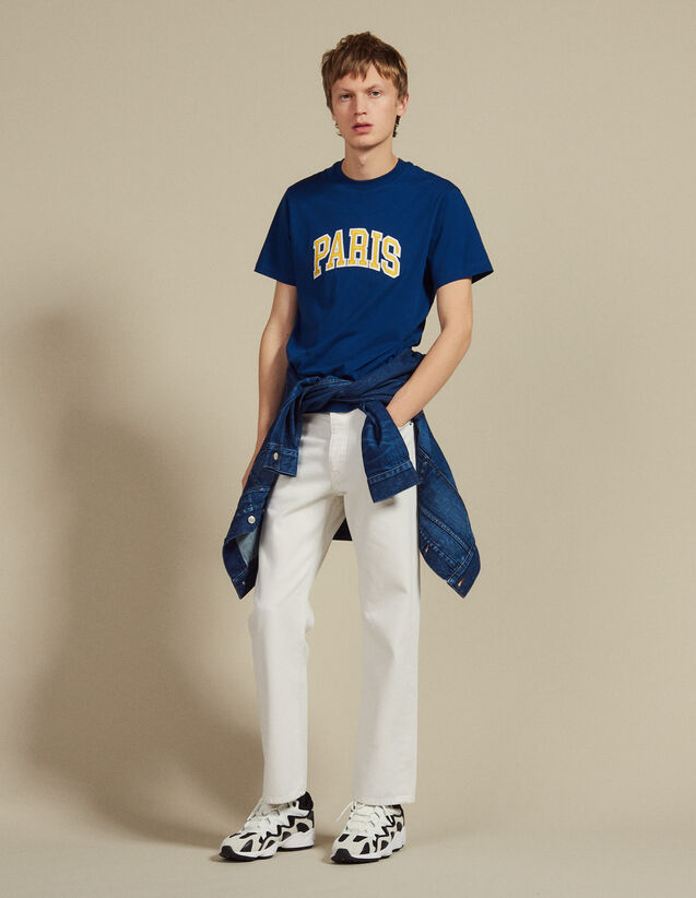 T-Shirt With Patch Lettering : Sélection Last Chance color Blue