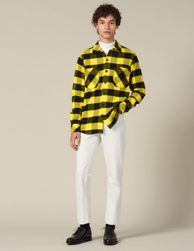 Checked cotton shirt : Winter Collection color Yellow
