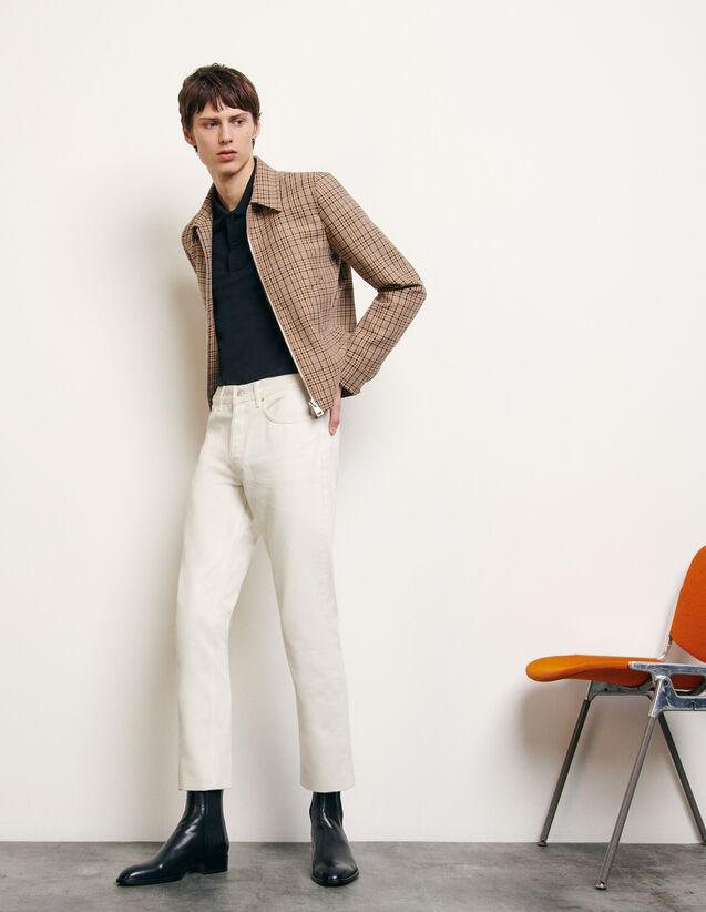 Decorative checked jacket : Blazers & Jackets color Beige