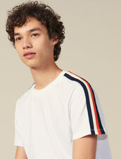T-Shirt With Stripes On The Sleeves : All Winter collection color white
