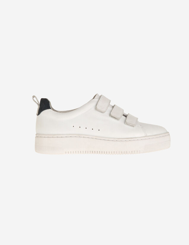 Leather Velcro Trainers : All Shoes color white