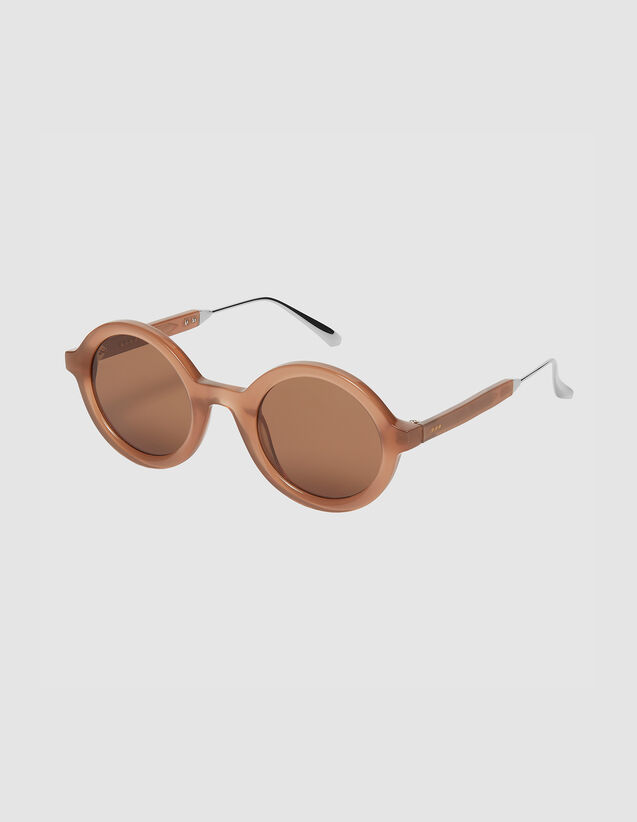 Round sunglasses : All Winter collection color Caramel