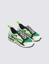 Flame Trainers : All Shoes color Vert fluo