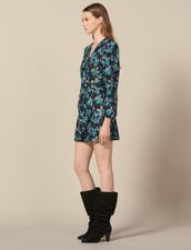 Tulle dress embroidered with sequins : FBlackFriday-FR-FSelection-30 color Black/turquoise