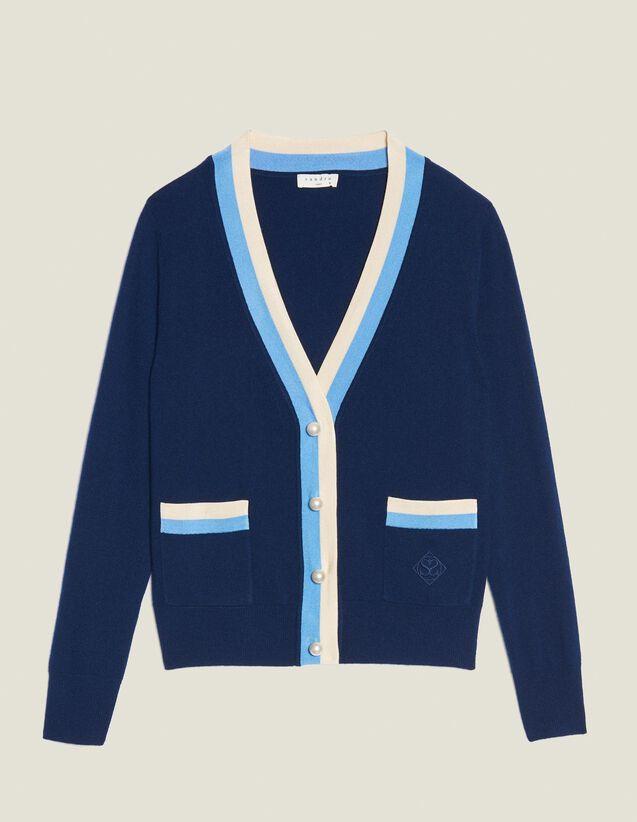 Fine Knit Collegiate Cardigan : Sweaters & Cardigans color Nude