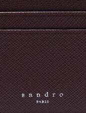 Leather Card Holder : Card Holders color Bordeaux