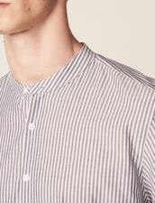 Striped Cotton Tunic : SOLDES-CH-HSelection-PAP&ACCESS-2DEM color White/Blue