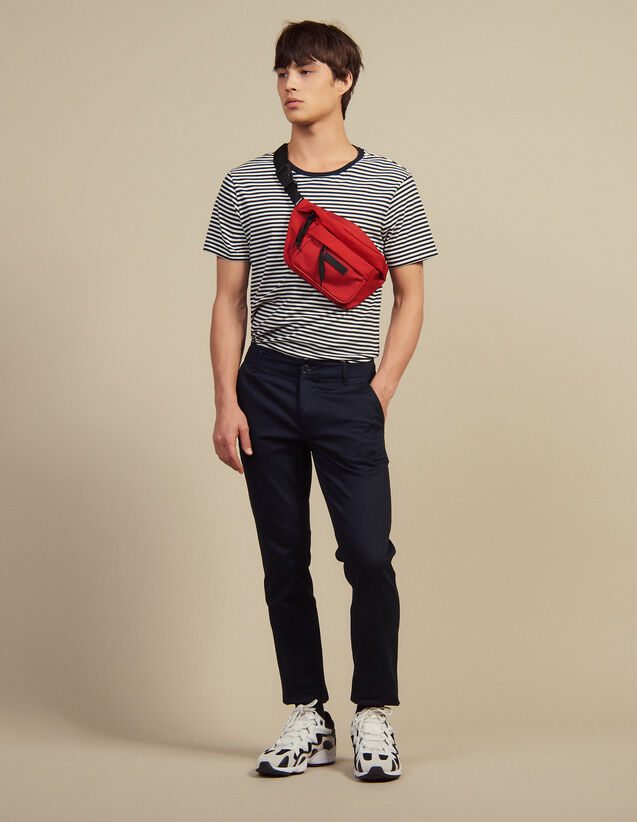 Straight-Leg Chino Trousers : Sélection Last Chance color Navy Blue
