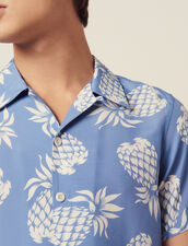 Hawaiian Printed Shirt : SOLDES-CH-HSelection-PAP&ACCESS-2DEM color Black