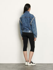 Denim jacket finished with rhinestones : Blazers & Jackets color Blue Jean
