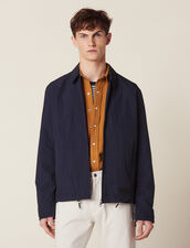 Coach Jacket In Technical Fabric : LastChance-RE-HSelection-Pap&Access color Navy Blue