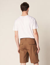 Bermuda Shorts With Pleats : Pants & Shorts color Taupe
