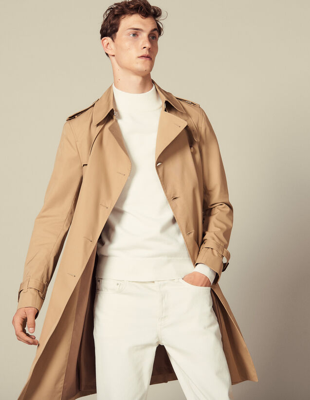 Belted trench coat : Trench coats & Coats color Beige