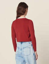 Cropped Knit Cardigan : Sweaters & Cardigans color Terracotta