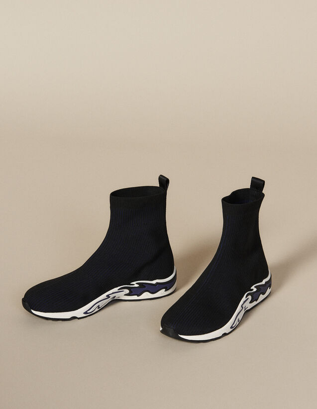 Flame Sock Trainers : New In color NOIR/BLEU
