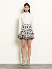Short broderie anglaise skirt : Skirts & Shorts color Navy Blue